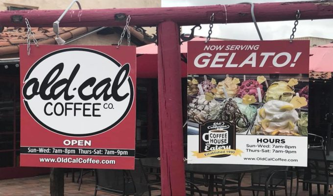 Have you seen the new signs at Old Cal Coffee?