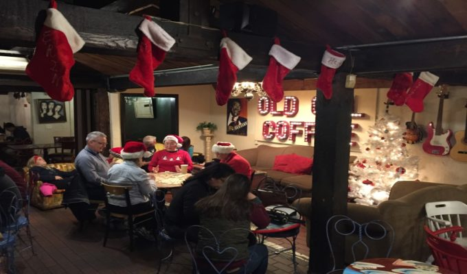 Christmas Carolers at Old Cal Coffee San Marcos