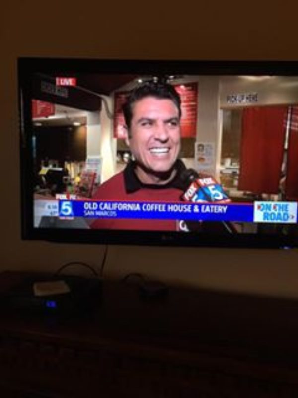 Old Cal Coffee on TV with Fox 5 News, Thursday Feb 4th